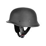 DOT German Flat Black Motorcycle Helmet