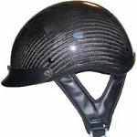 DOT Carbon Look Motorcycle Half Helmet