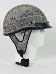 DOT Crocodile Skin Motorcycle Half Helmet