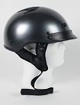 Gun Metal DOT Motorcycle Half Helmet with Visor