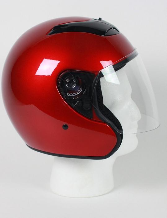 America DOT Motorcycle Helmet Open Face with Flip Shield