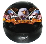 DOT Home of The Brave Motorcycle Half Helmet
