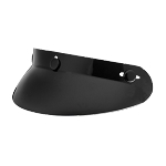 Gloss Black Motorcycle Helmet Bubble Cap Visor
