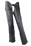Women's Low Rise Studded Leather Motorcycle Chaps