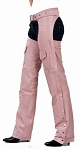 Womens Insulated Pink Leather Motorcycle Chaps