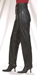 Womens 5 Pocket Plain Leather Pants