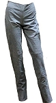 Womens Denim Look Hip Hugger Leather Pants