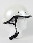 DOT Pearl White Polo Style Motorcycle Helmet