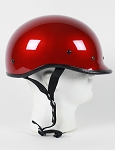 DOT Wine Polo Style Motorcycle Helmet