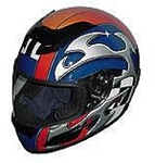 RZ-2 Blue Blade Full Face Racing Helmet