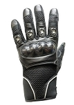 Vented Reflective Hard Knuckle Motorcycle Gloves