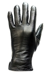 Womens Full Finger Leather Motorcycle Gloves