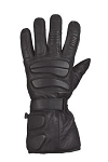 Padded Full Finger Leather Motorcycle Gauntlet Gloves