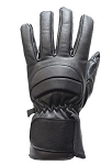 Lined Leather Motorcycle Gloves with Padding
