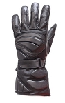 Biker Padded Motorcycle Riding Gloves With Wrist Strap