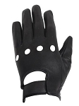 Leather Motorcycle Gloves with Knuckle Holes