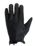 Leather Motorcycle Riding Gloves with Top Zipper