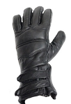 PVC Lined Motorcycle Gloves with Dual Wrist Strap