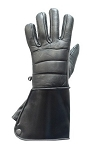 Motorcycle Leather Gauntlet Gloves With Lining
