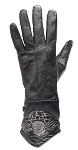 Womens Leather Motorcycle Gloves With Eagle