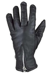 Womens Full Finger Leather Gloves With Zipper
