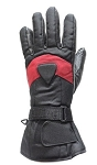 Black and Red Insulated Motorcycle Gauntlet Gloves