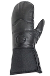 Long Insulated Leather Motorcycle Riding Mittens