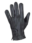 Full Finger Leather Motorcycle Gloves with Gel Palm
