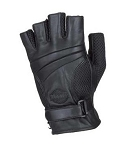 Fingerless Leather Motorcycle Gloves with Gel Palm