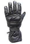 Men's Padded Leather & Mesh Motorcycle Racing Gloves