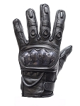 Black Motorcycle Racing Gloves with Hard Knuckle