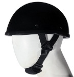 Eagle Shiny Black Novelty Motorcycle Helmet