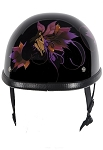 Motorcycle Novelty Helmet With Fairy Design
