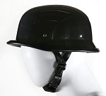 Black German Novelty Helmet - Adjustable Chin Strap