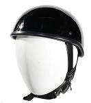 Gloss Black SOA Style Novelty Motorcycle Helmet