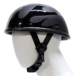 Novelty Motorcycle Helmet With Black Flames