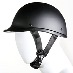 Jockey Hawk Novelty Flat Black Motorcycle Helmet