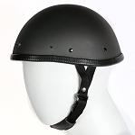Novelty Flat Black Motorcycle Helmet With Visor Snaps