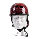Wine Eagle Novelty Motorcycle Helmet with Skulls