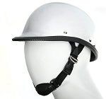 Chrome Jockey Style Novelty Motorcycle Helmet