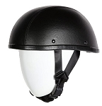 Leather Covered Eagle Style Novelty Motorcycle Helmet