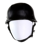 Leather Cover German Novelty Motorcycle Helmet