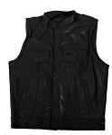Kids Leather Motorcycle Vest