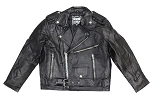 Kids Plain Leather Motorcycle Jacket