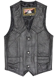 Kids Regular Plain Leather Vest