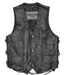 Kids Leather Vest With Side Laces