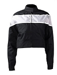 Women's Black and Gray Textile Motorcycle Jacket