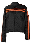 Womens Black/Orange Textile Motorcycle Jacket