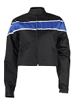 Womens Black/Blue Textile Motorcycle Jacket