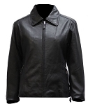 Womens Soft Leather Jacket with Zip Out Lining